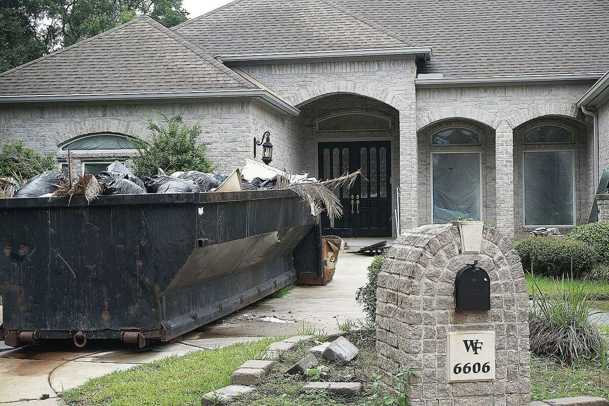A familiar sight for homeowners in the Cypress Creek area who had several feet of water in their homes during the Hurricane Harvey flooding event.