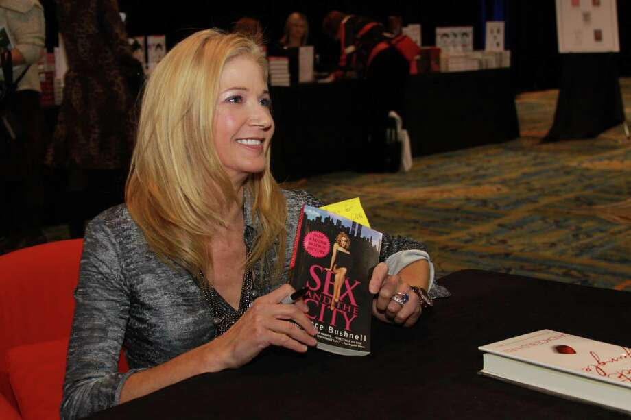 Candace Bushnell, author of 'Sex and The City,' visits with fans during a past book signing event at the John Cooper School Author Series in Texas. Photo: Catherine Dominguez / / Internal