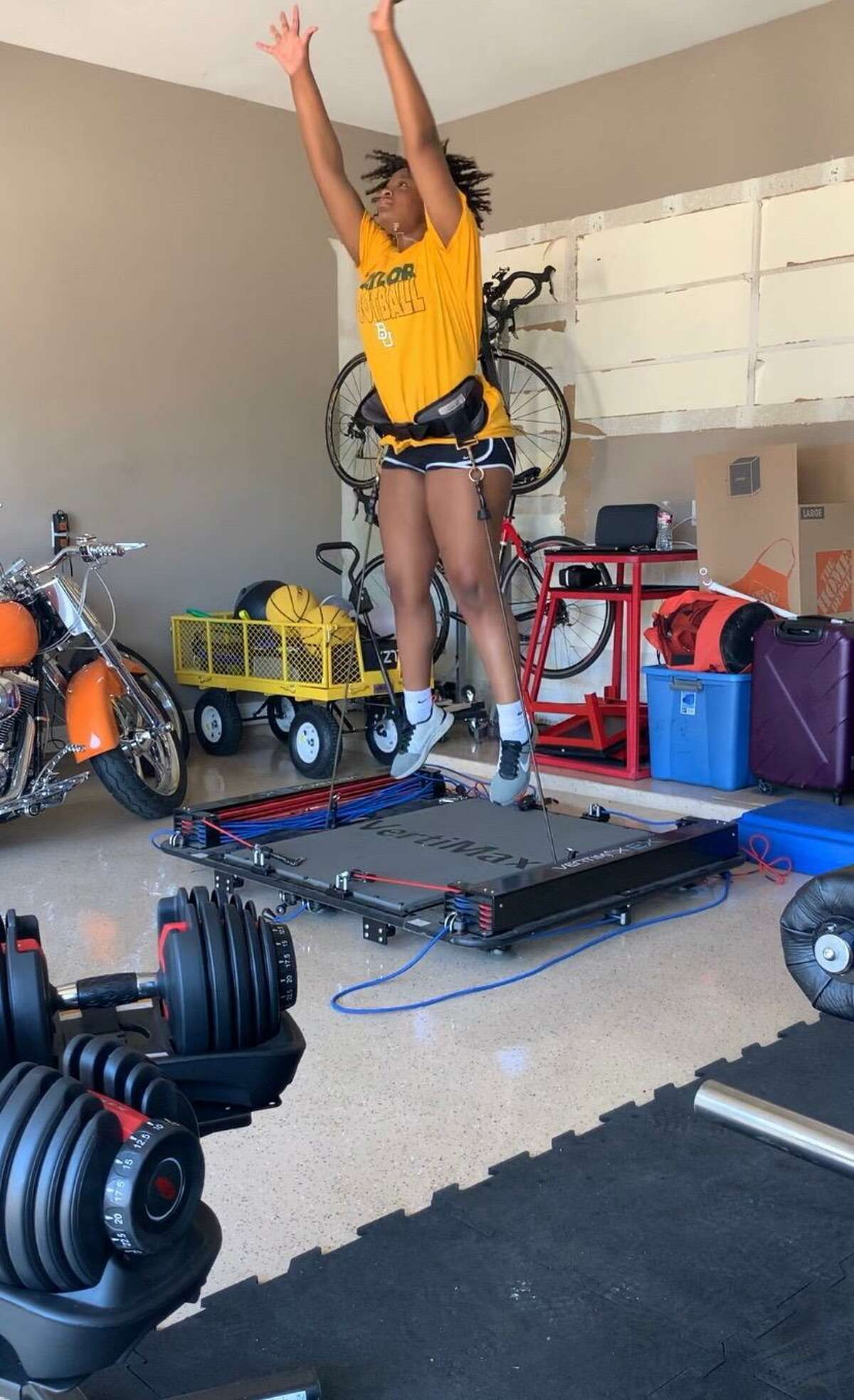 Spring head volleyball coach Stephanie Porter said athletes across Spring Independent School District haven't been able to participate in summer strength and conditioning camp, as of late June, but some have been working out from home.