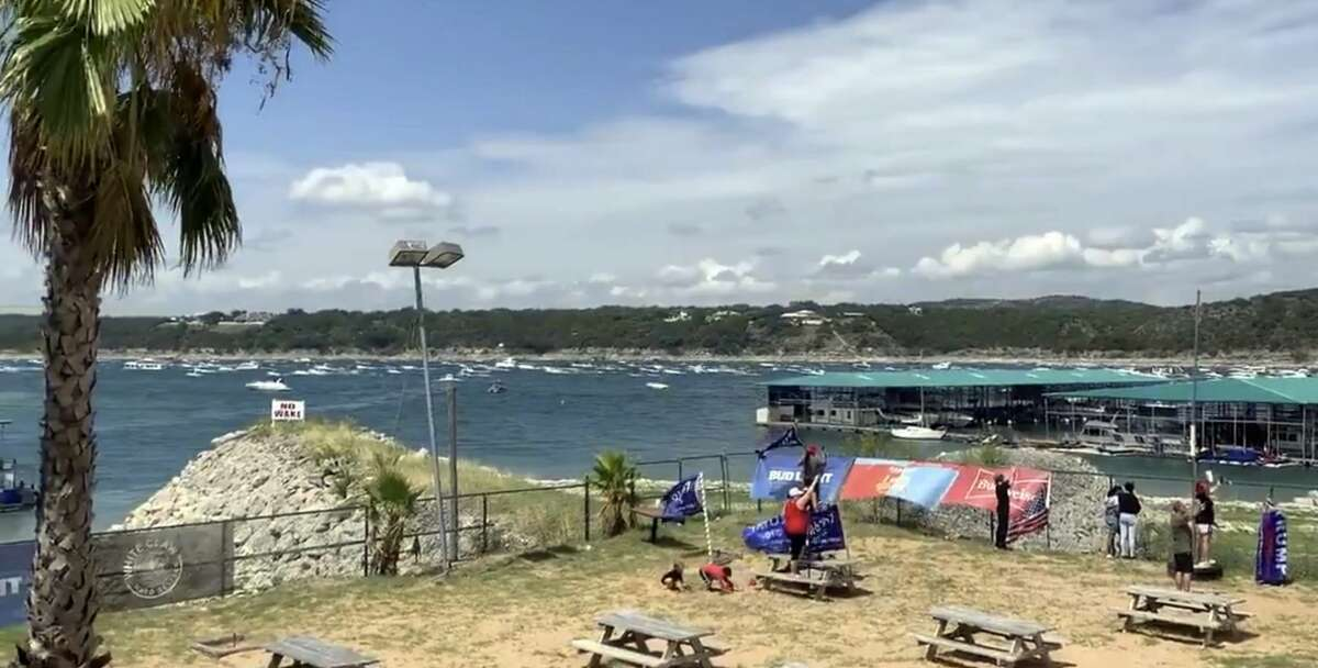 """Authorities have responded to several """"boats in distress""""during a boat parade for President Trump on Lake Travis in Texas, and multiple boats have sunk, KVUE reported on Saturday afternoon."""