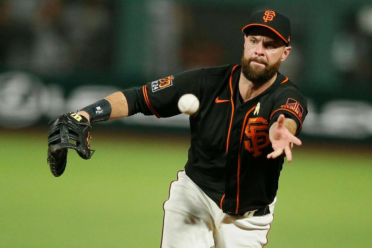 Giants first baseman Brandon Belt says he is regaining strength from his illnesses and has an outside shot of being ready for Opening Night.