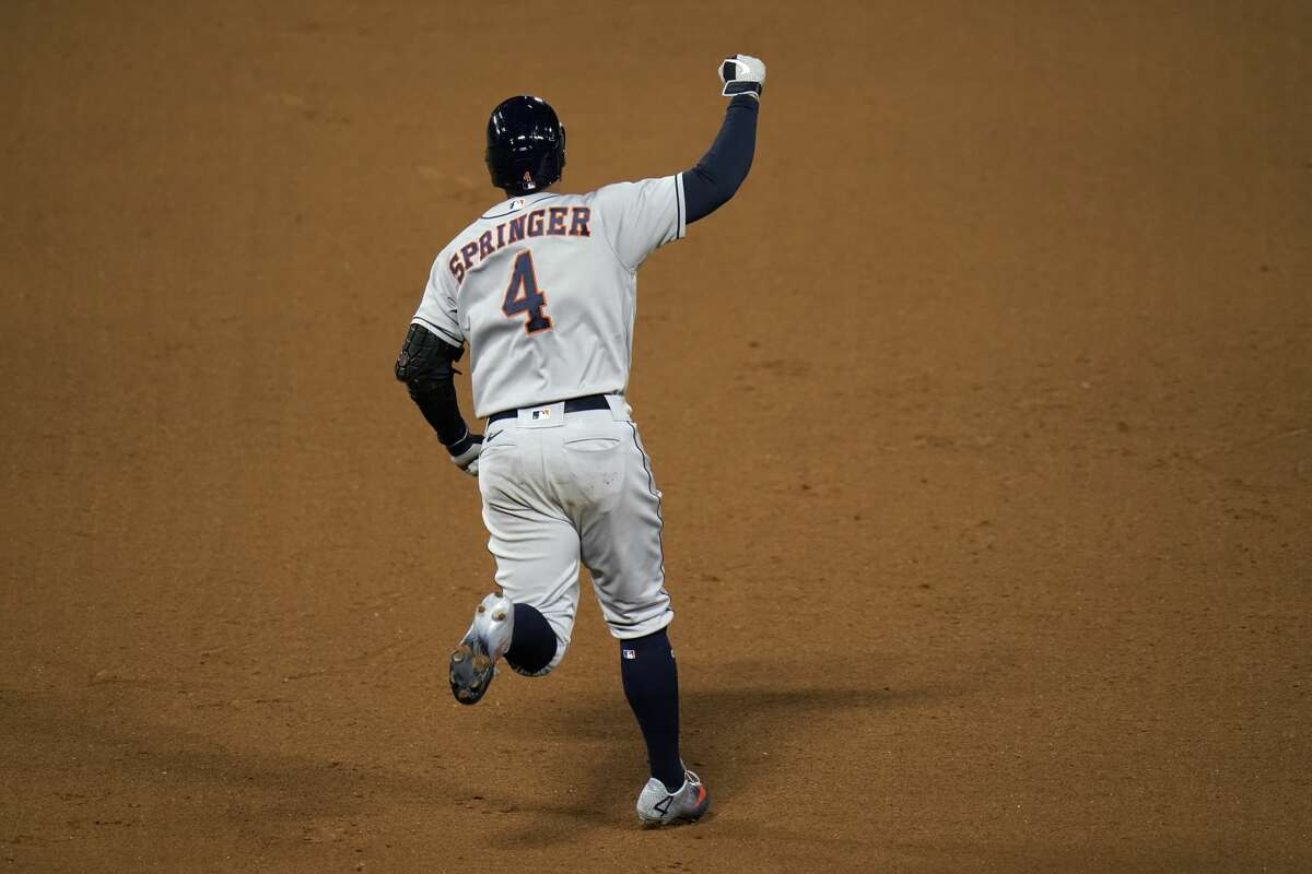 George Springer hit 174 home runs in his seven seasons with the Astros.