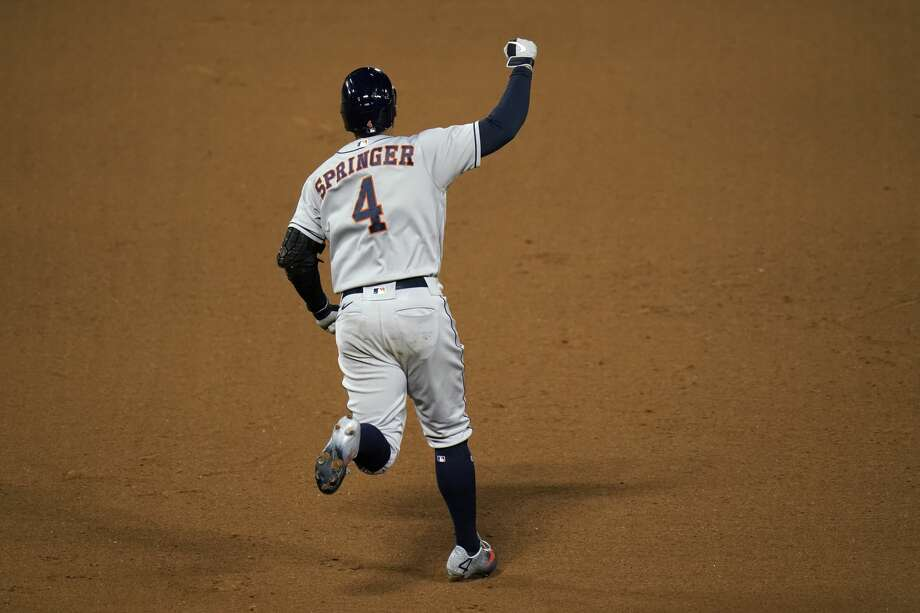 George Springer hit 174 home runs in his seven seasons with the Astros. Photo: Jae C. Hong/Associated Press / Copyright 2020 The Associated Press. All rights reserved.