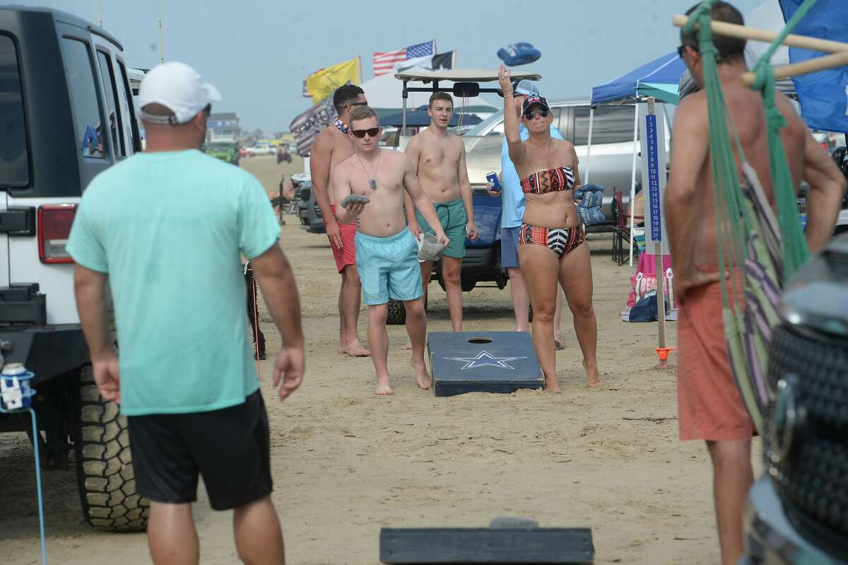 Crystal Beach is packed with Labor Day weekend celebrants Saturday. Photo taken Saturday, September 5, 2020 Kim Brent/The Enterprise
