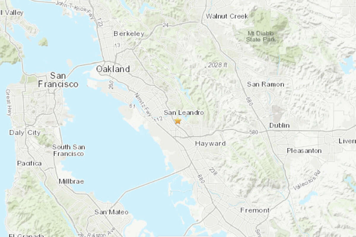 A magnitude 3.4 earthquake struck in San Leandro on Sunday morning.