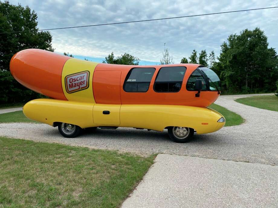 The Oscar Mayer Wiener Mobile visited Frankfort Senior Care to the delight of the residents. (Courtesy Photo)