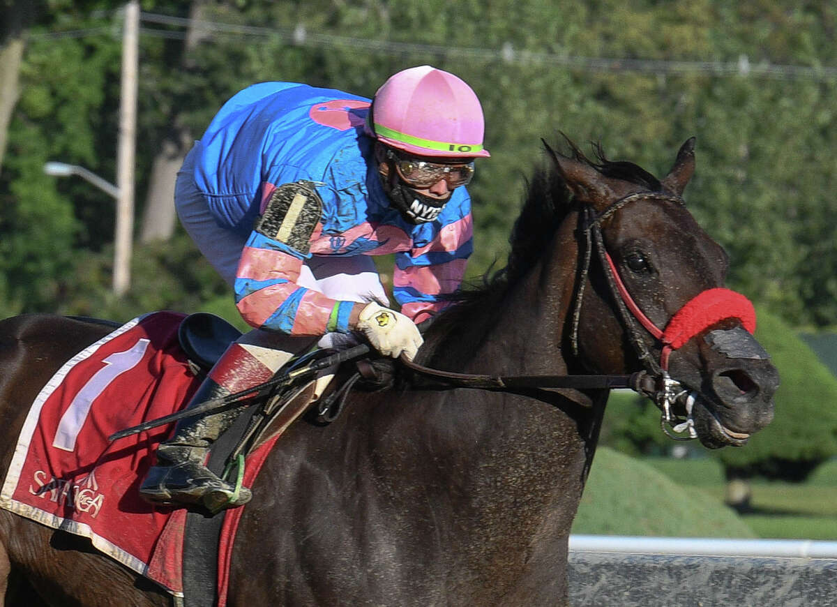 Jockey Irad Ortiz, Jr. guided the 6-year-old mare Come Dancing to her ninth career victory, three-quarters-of-a-length triumph in the Grade II Honorable Miss on Sunday, September 6, 2020 at Saratoga Race Course in Saratoga Springs, N.Y.