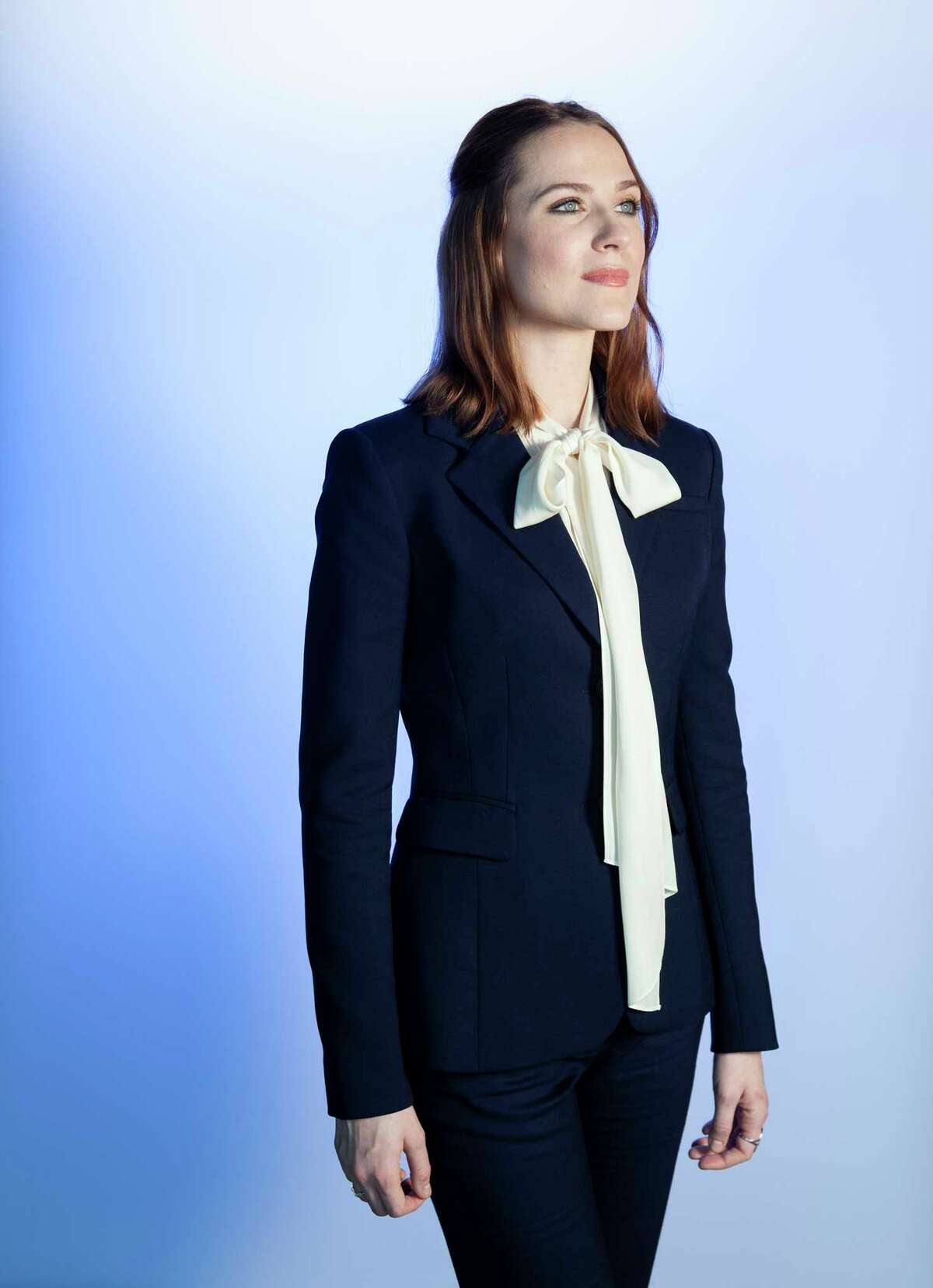 FILE - This Nov. 9, 2019, photo shows Evan Rachel Wood, who voices the character Iduna, posing for a portrait in Los Angeles to promote her film