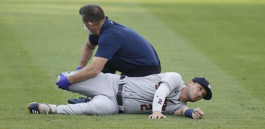 Houston Astros third baseman Alex Bregman (2) in the first inning of a baseball game Wednesday, Aug. 19, 2020, in Denver. (AP Photo/David Zalubowski) Photo: David Zalubowski / Associated Press