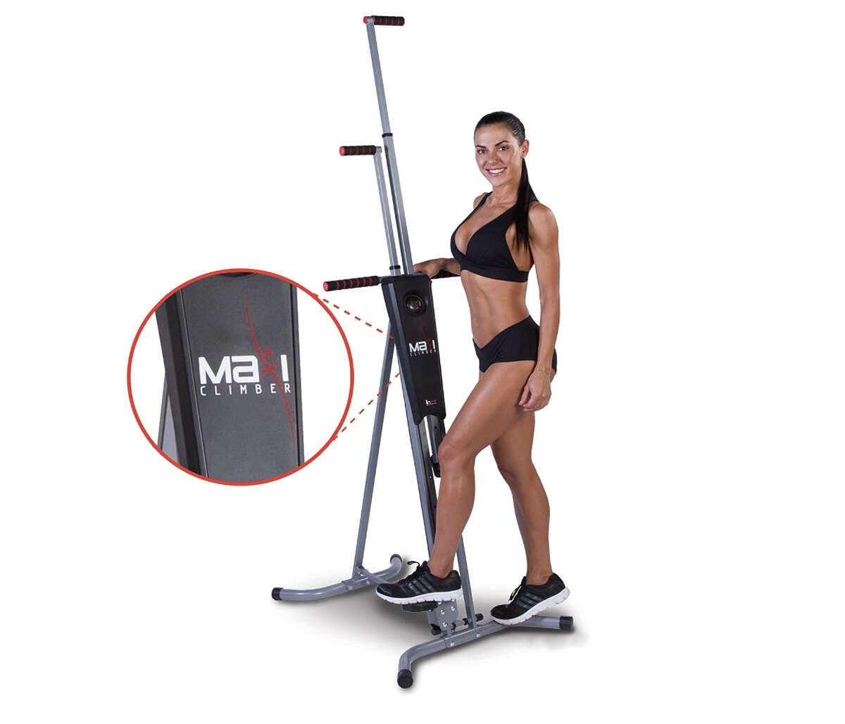 1) MaxiClimber The Original Patented Vertical Climber: $199.99 Shop Now ICYMI, this vertical climber has over 4,300 reviews on Amazon. Why? Well, it comes with a Fitness App that helps you track your workout as you go, something you don't find often when it comes to these machines. Plus, it arrives at your doorstep almost entirely assembled, so that's always a win.