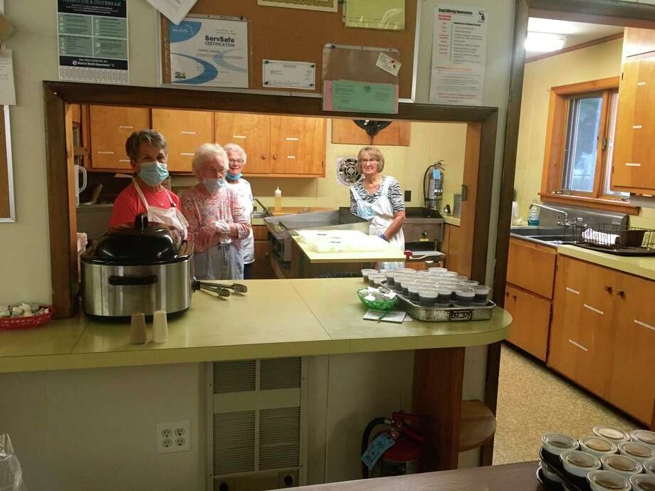 TheArcadia Lions Club started hostingdrive-through pancake breakfasts on Aug. 2. The final two breakfasts in August were served by the FCE Herring Hill and Dale Women's Extension Club, members of which are pictured. (Courtesy photo)