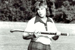 Edwardsville graduate Gail (Niebur) Eagle during her playing days with the Western Illinois University field hockey team.