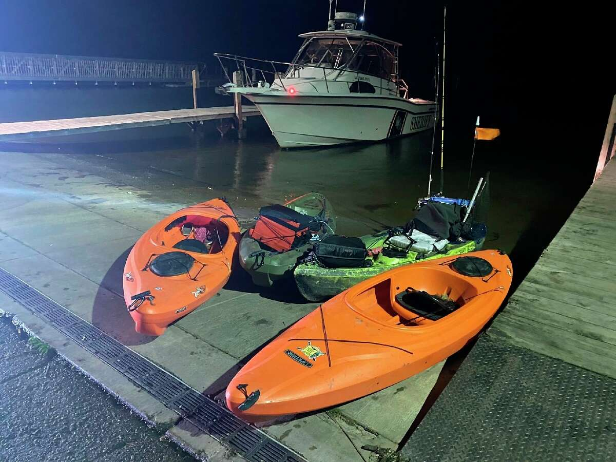 A group of kayakers were among two groups rescued by the sheriff's office Sept. 6. (Huron County Sheriff's Office/Courtesy Photo)