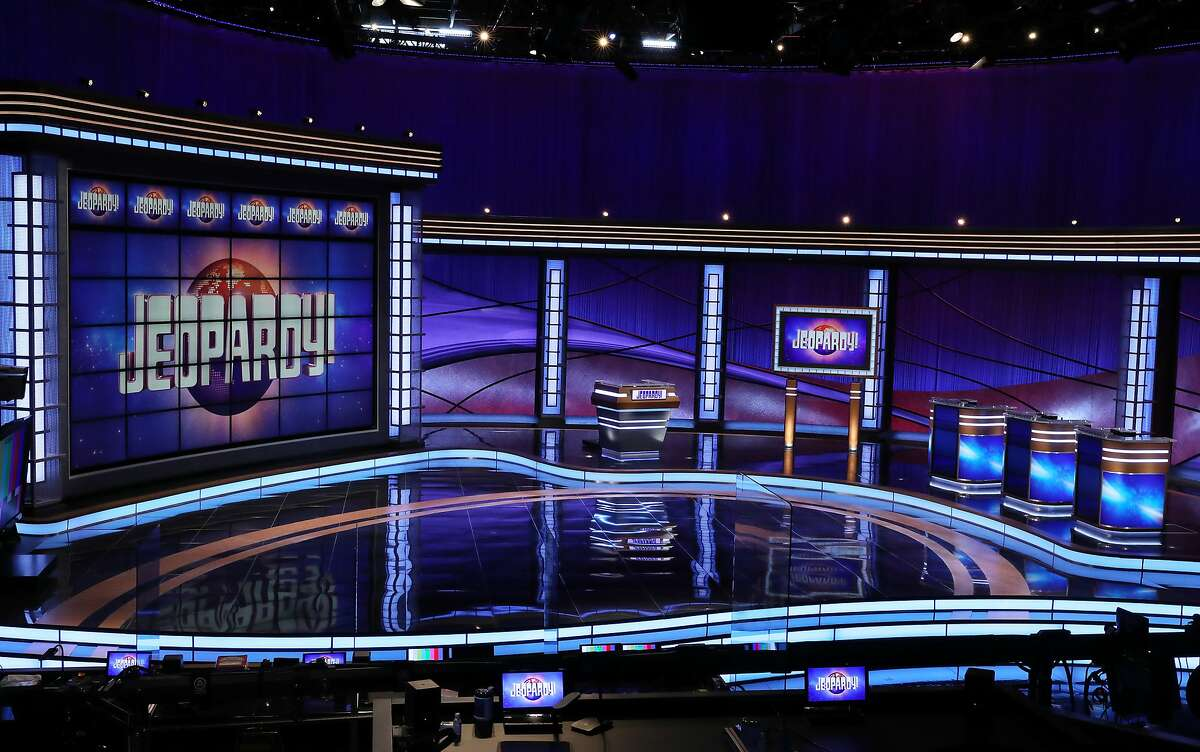 This image released by JEOPARDY! shows the new set for the popular quiz show. Season 37 will premiere on Sept. 14. (Carol Kaelson/JEOPARDY! via AP)