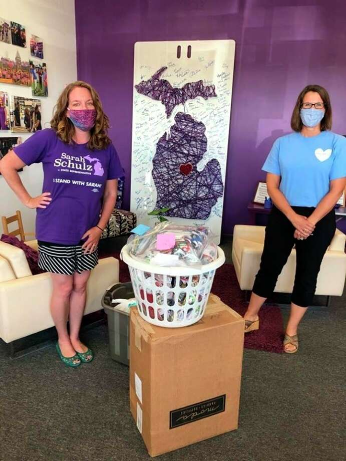 Team Schulz recently made and donated 1,700 face masks to Meridian Public Schools. (Photo provided)