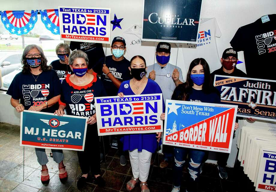 Members of the Webb County Democratic Party gather for a photo, Saturday, Sept. 5 at the group's headquarters. Photo: Danny Zaragoza /Laredo Morning Times