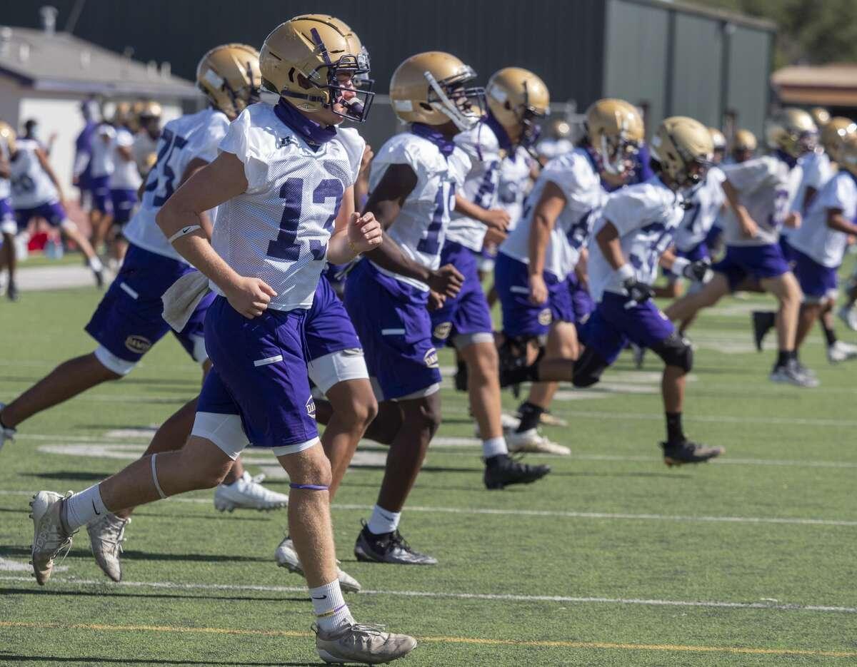 Midland High players runs drills during the first day of organized practice 09/07/2020 at Memorial Stadium. Tim Fischer/Reporter-Telegram