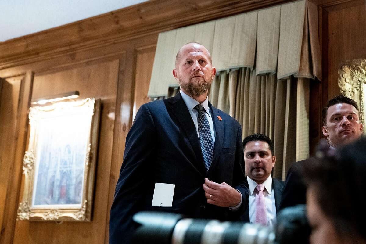 FILE -- Brad Parscale, then President Donald Trump's campaign manager, at a fundraising event in San Antonio, Texas, on April 10, 2019. Trump's campaign has spent $800 million. (Erin Schaff/The New York Times)