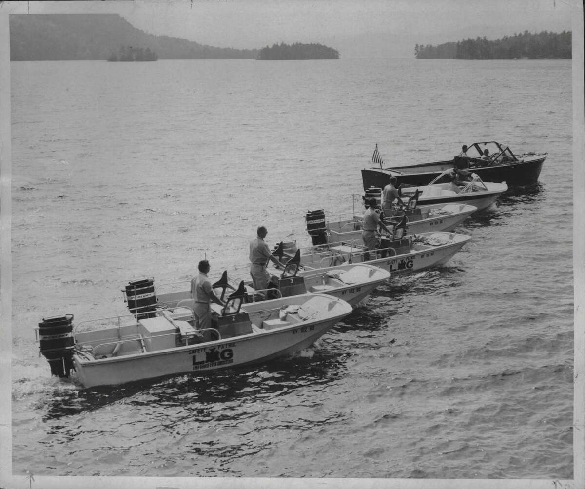 Lake George Park Commission patrol boats in New York. September 1970 (Walter Grishkot/Times Union Archive)