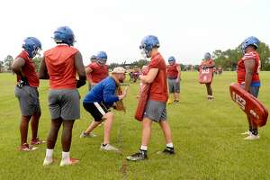 West Brook had their first practice Monday as UIL rules allowed 5A and 6A schools to begin full practice with pads allowed beginning this week. Photo taken Monday, September 7, 2020 Kim Brent/The Enterprise