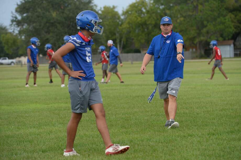 West Brook had their first practice Monday as UIL rules allowed 5A and 6A schools to begin full practice with pads allowed beginning this week. Photo taken Monday, September 7, 2020 Kim Brent/The Enterprise Photo: Kim Brent/The Enterprise