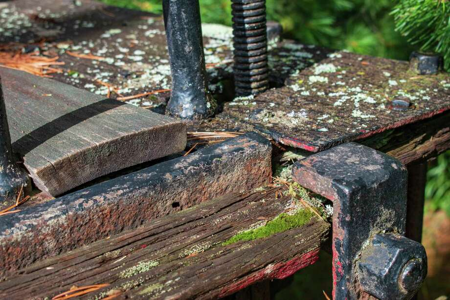 A close-up view of some of the damage to the Yankee that will be repaired during restoration. (Courtesy photo/Michigan Department of Natural Resources)