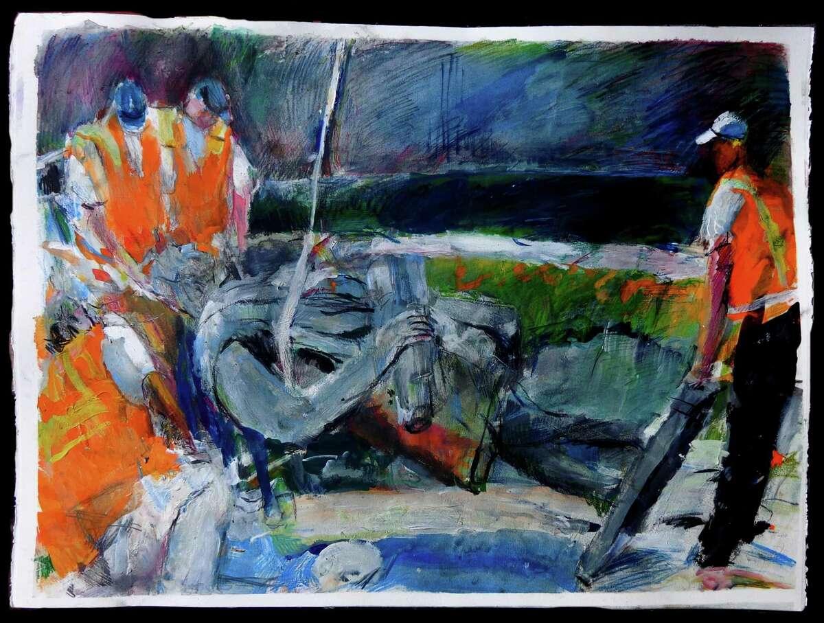 "Howard Skrill's ""Monumental Follies"" exhibit is available virtually at the Fairfield University Art Museum."