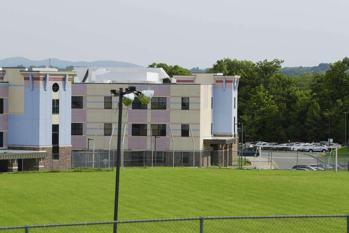 A view of the Rensselaer City school building on Tuesday, Sept. 8, 2020, in Rensselaer, N.Y. (Paul Buckowski/Times Union)