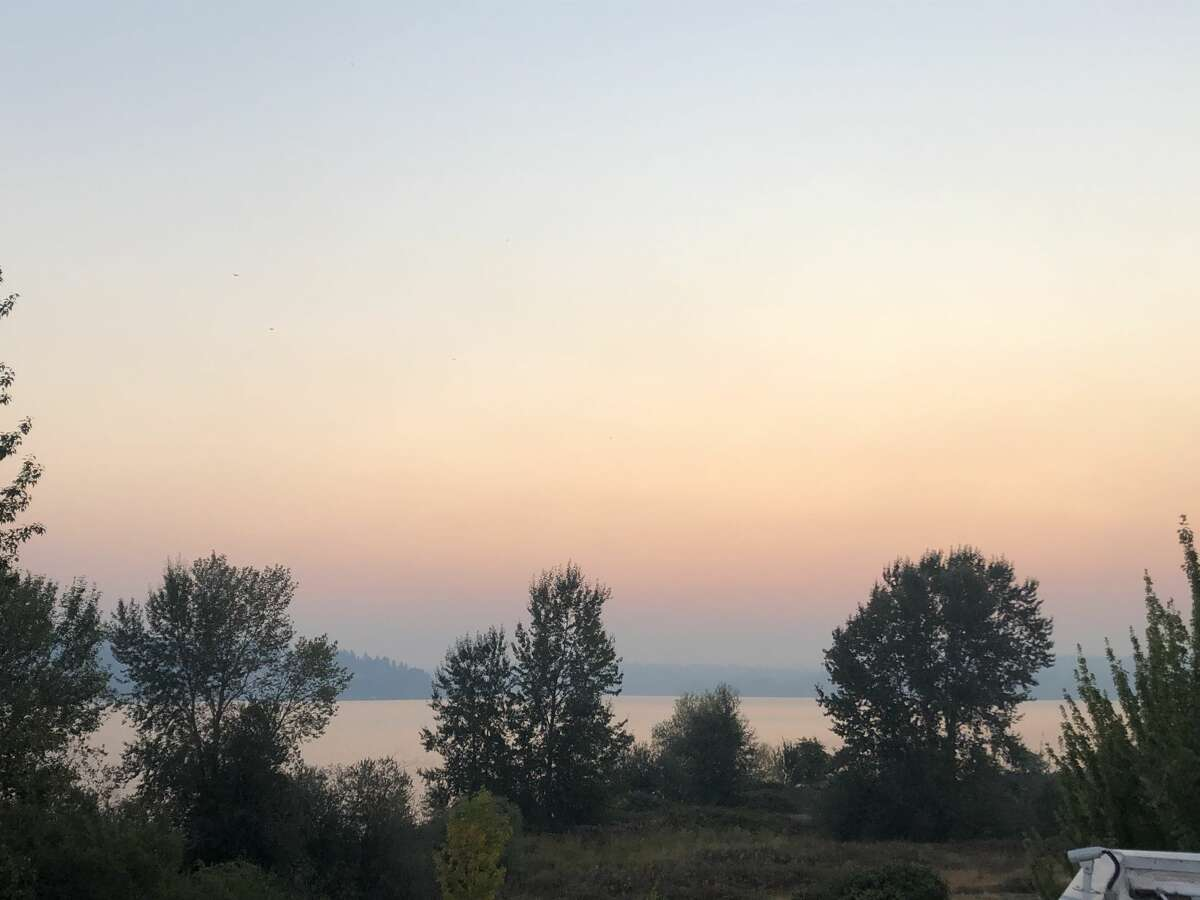 Easterly winds on Sept. 7 blew wildfire smoke from a devastating fire in Douglas County and one from Yakima County over the Cascades and worsened the air quality overnight.