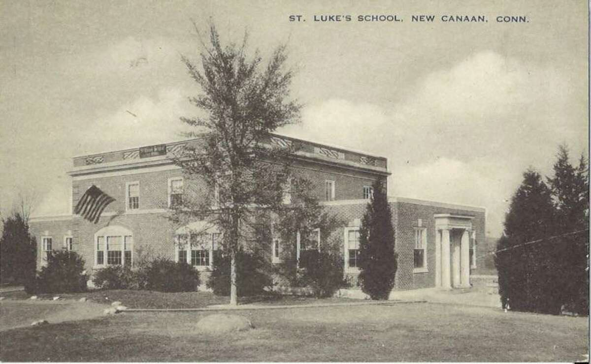 St. Luke's School in New Canaan during the 1930s with original parapet design.