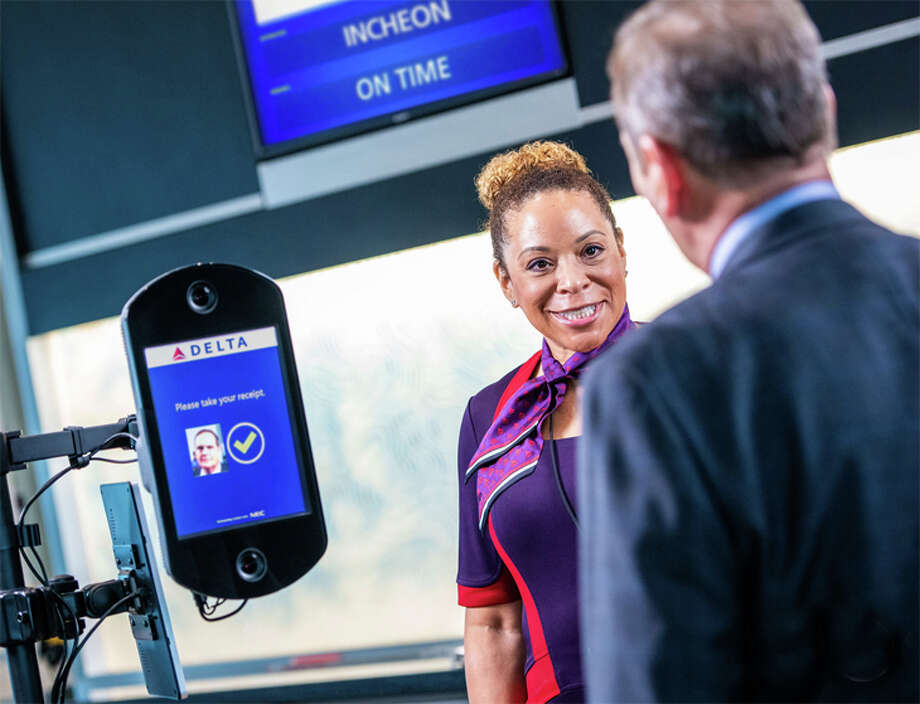 Delta introduced facial recognition in Atlanta Hartsfield-Jackson's international terminal in 2018; now a similar technology is moving to ATL's domestic terminal. Photo: Delta