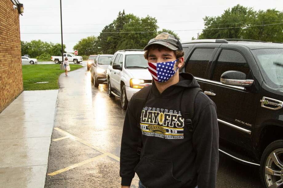 Students and staff returned to North Huron Schools Sept. 8 after working from home several months due to the pandemic. Photo: Coulter Stuart/For The Tribune