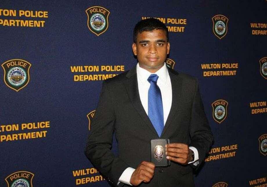 Wilton Police Officer Navin Nair Photo: Wilton Police Photo