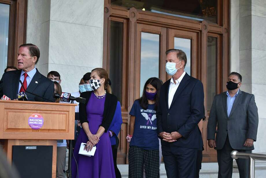 State Rep. David Rutigliano (R-123)joined state officials and advocates in recognition of International Overdose Awareness Day. Photo: Contributed Photo