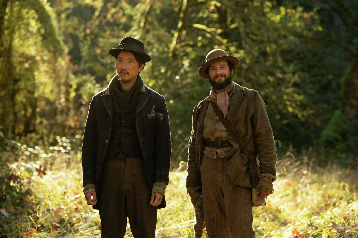 Orion Lee (left) and John Magaro go into business together in