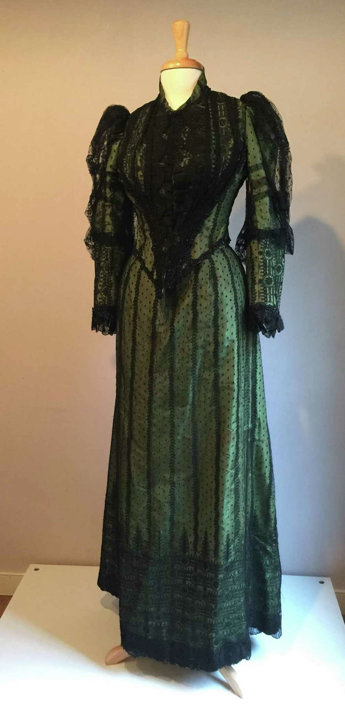 An 1890s dress believed to have belonged to Hannah Ambler or her sister Elizabeth, from Wilton Historical Society's virtual exhibition,