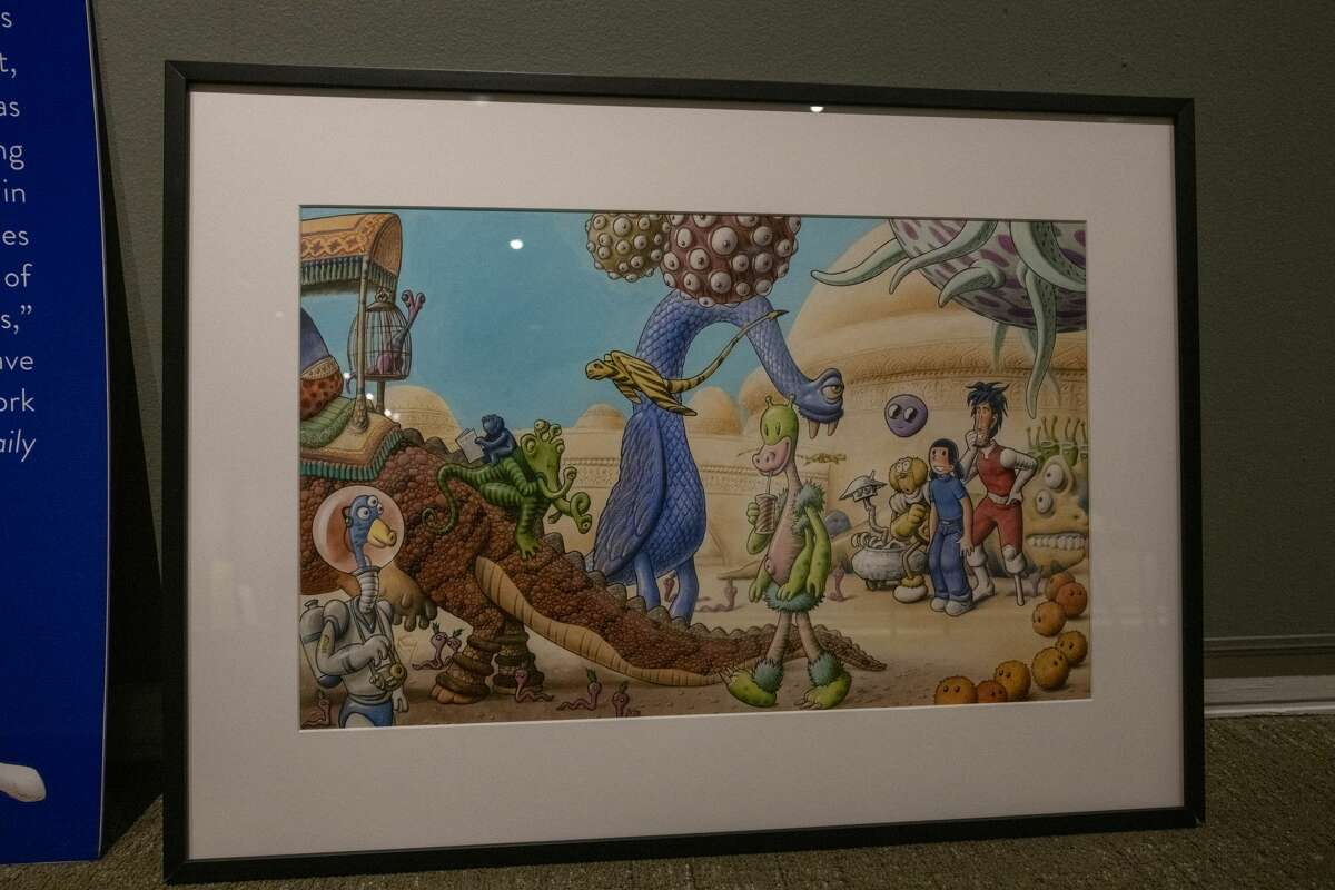 """""""BAM! It's a Picture Book: the Art behind Graphic Novels' exhibit is unpacked Tuesday, Sept. 8, 2020 at the Ellen Noel Art Museum. The exhibit will open Thursday. Jacy Lewis/Reporter-Telegram"""