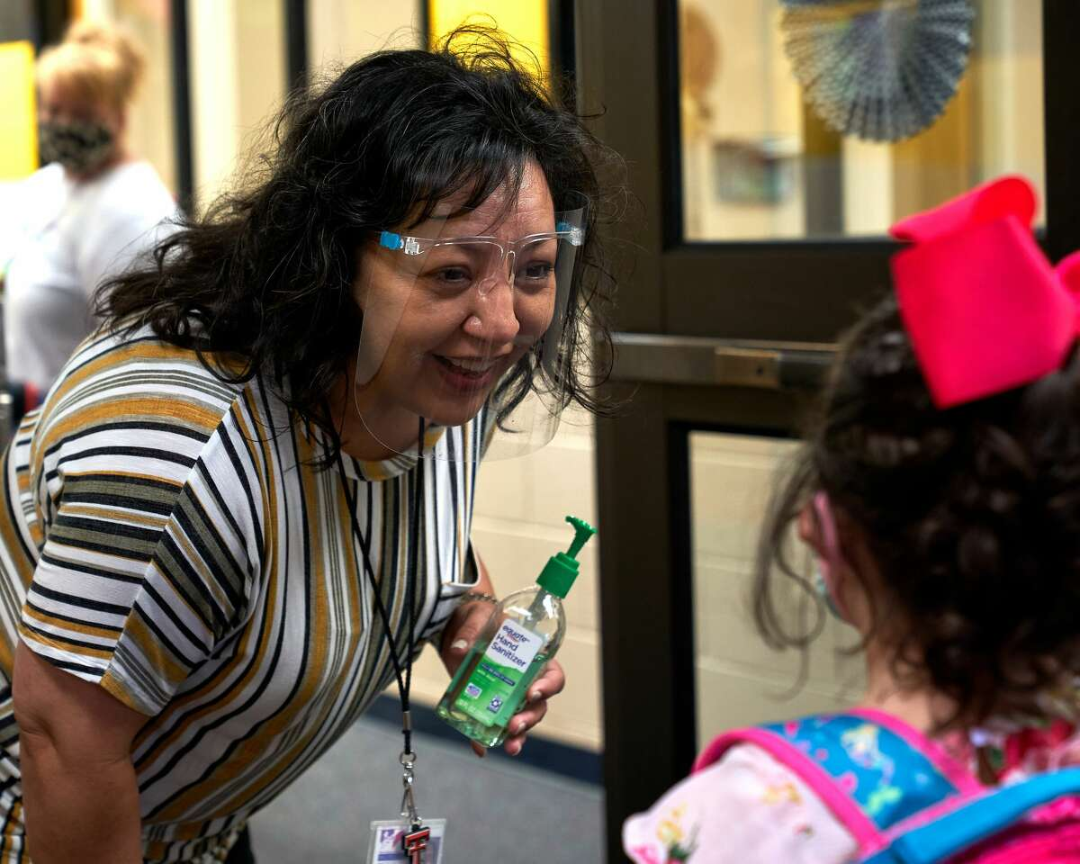 Santa Rita Elementary kindergarten through second-grade students were back on campus Tuesday, Sept. 8, 2020, as part of Phase 2 of Midland ISD's Blended Learning model rollout. Pre-kindergarteners and life skills students returned the previous week.