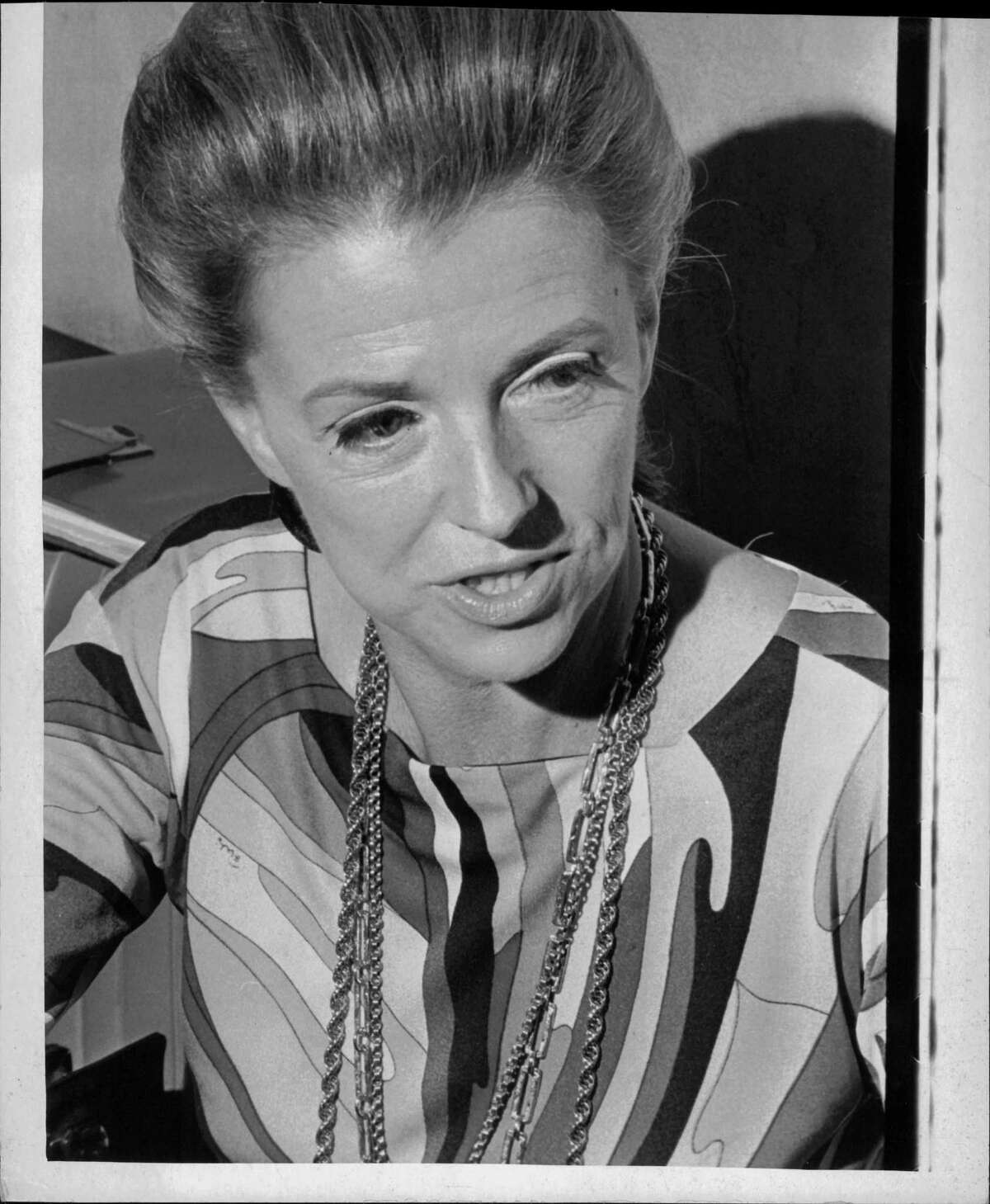 Activist and Actress Betty Furness. Star solving problems. 1970 (Fred McKinney/Times Union Archive)