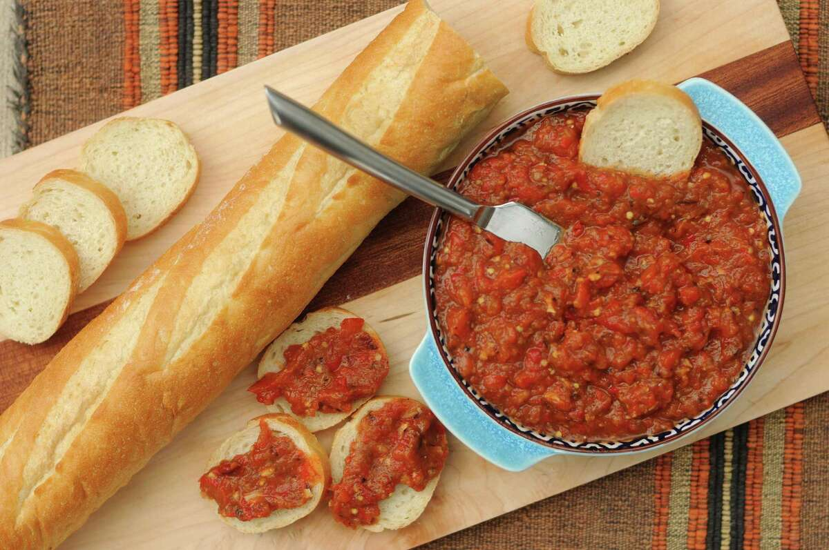 Ajvar (Roasted Eggplant and Red Pepper Spread)