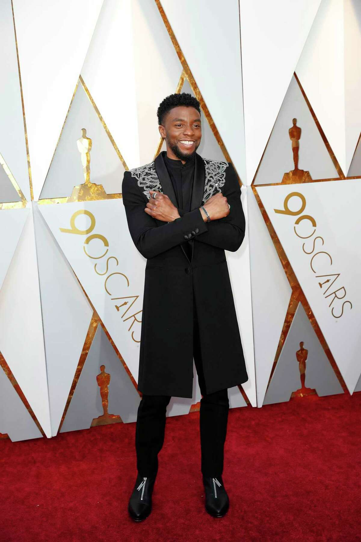 Chadwick Boseman during arrivals at the 90th Academy Awards on March 4, 2018, at the Dolby Theatre at Hollywood & Highland Center in Hollywood. (Jay L. Clendenin/Los Angeles Times/TNS)