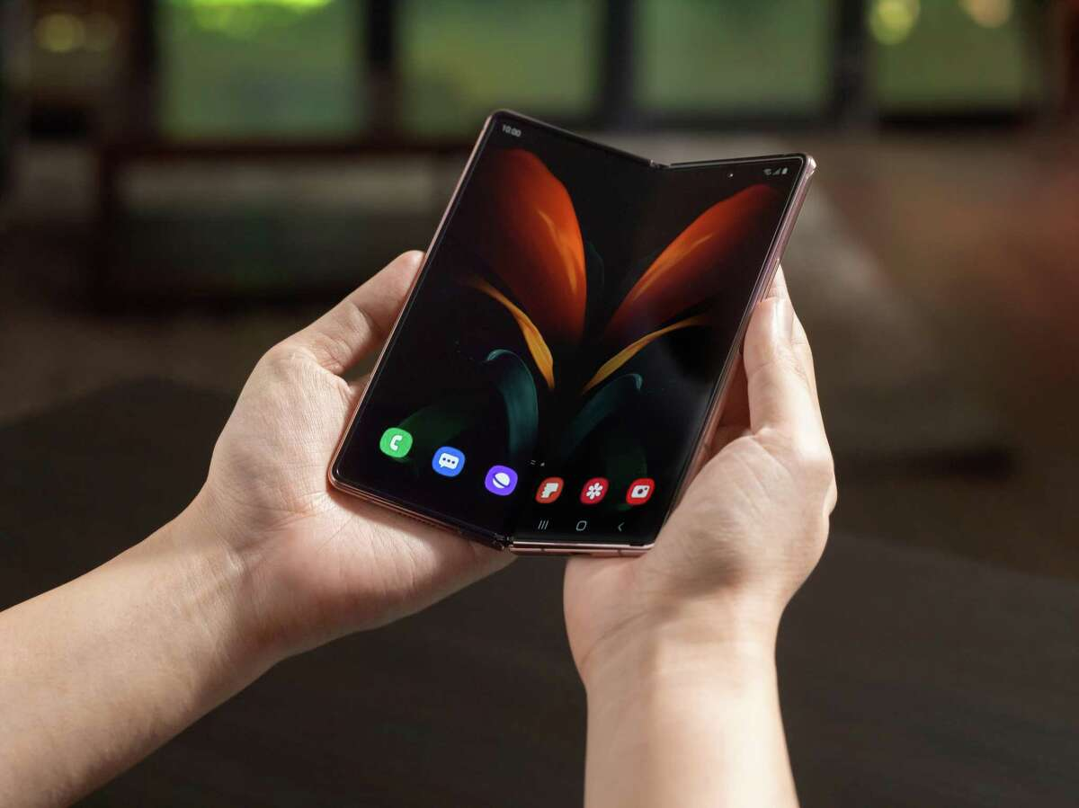 The Samsung Galaxy Z Fold 2 is a folding smartphone that opens up into a tablet. It costs about $2,000.