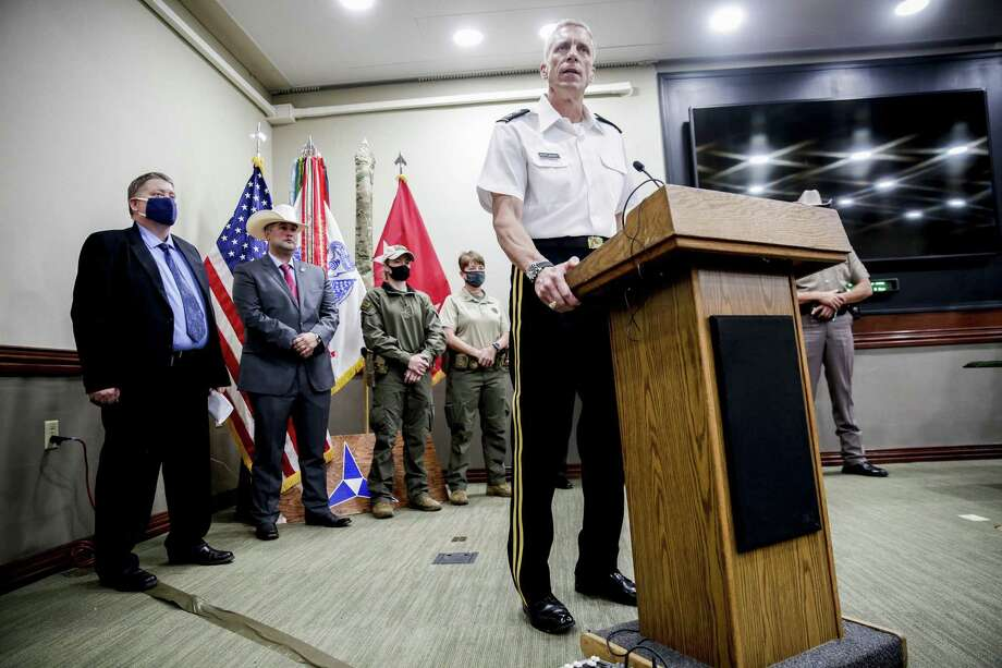 Major General Scott Efflandt, III Corps and Fort Hood deputy commander, at a news conference in early July. (Bronte Wittpenn/Austin American-Statesman/TNS) Photo: BRONTE WITTPENN /TNS / Austin American-Statesman