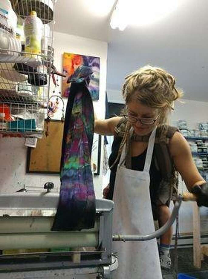 Meredith Perrotto, a 2006 graduate of NCCC with a degree in Fine Art, works in her home studio in Berwick Maine. She is the owner and sole artist at Soul Shine, Maine. Photo: Meredith Perrotto / Contributed Photo