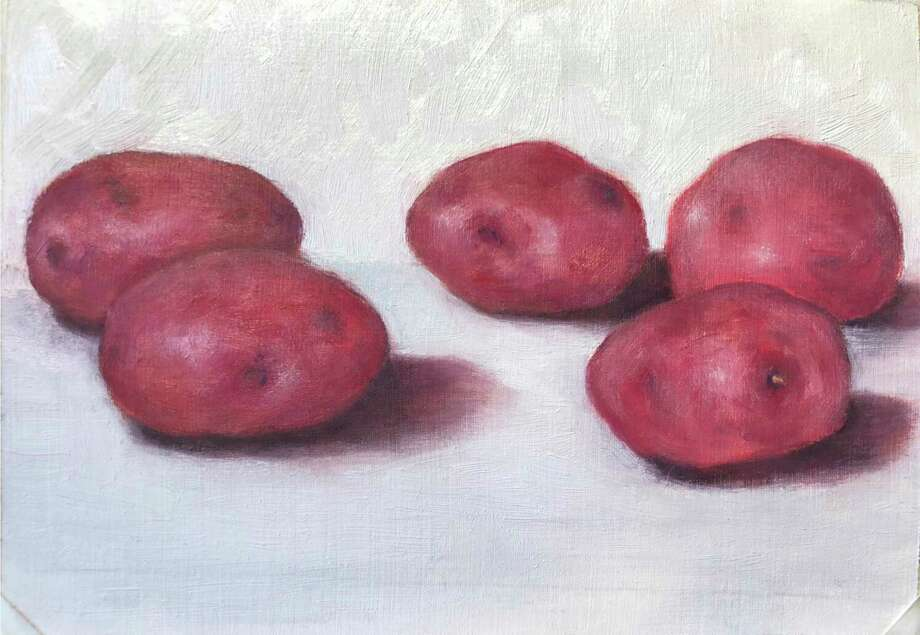 Washington Art Association & Gallery is pleased to host a show of member's works, Transforming the Commonplace, from Sept. 19 - Oct. 11, juried by Daphne Anderson Deeds. Pictured, Adrienne Abseck, 5 Red Potatoes, oil on paper. Photo: WAA / Contributed Photo /