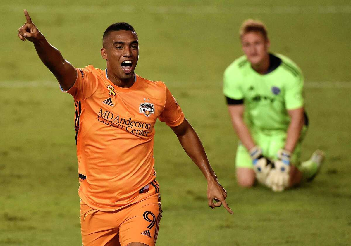 Mauro Manotas ranked second all-time in Dynamo history with 64 goals.