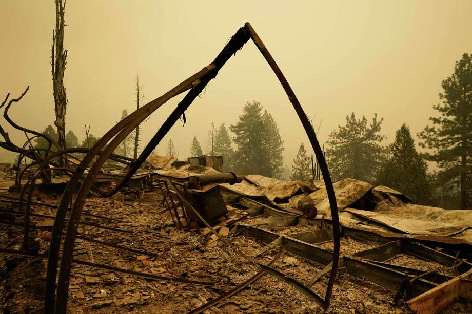 Property is left in ruins after the Creek Fire passed through Tuesday, Sept. 8, 2020, in Tollhouse, Calif. Photo: Marcio Jose Sanchez, AP / Copyright 2020 The Associated Press. All rights reserved.