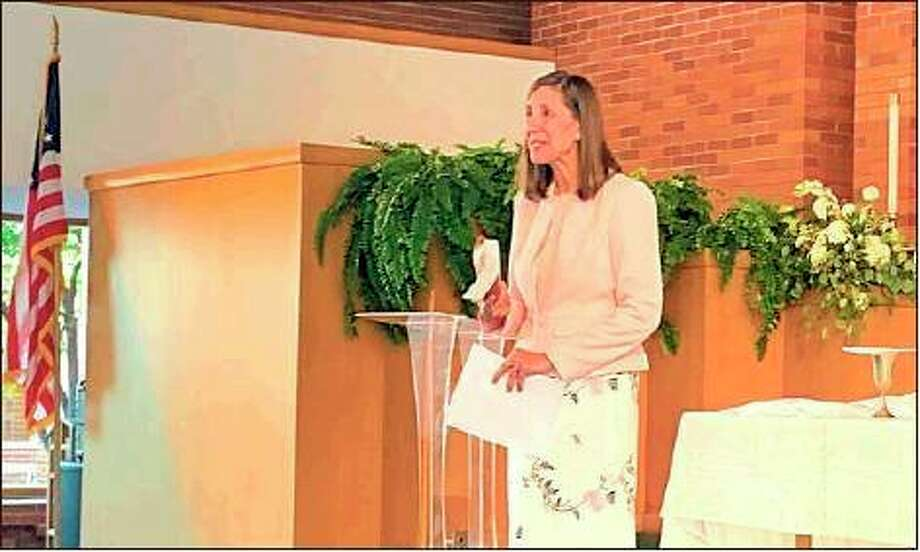 Rev. Anita Hahn speaks during a 2019 service at Midland First United Methodist Church. (MDN File Photo)