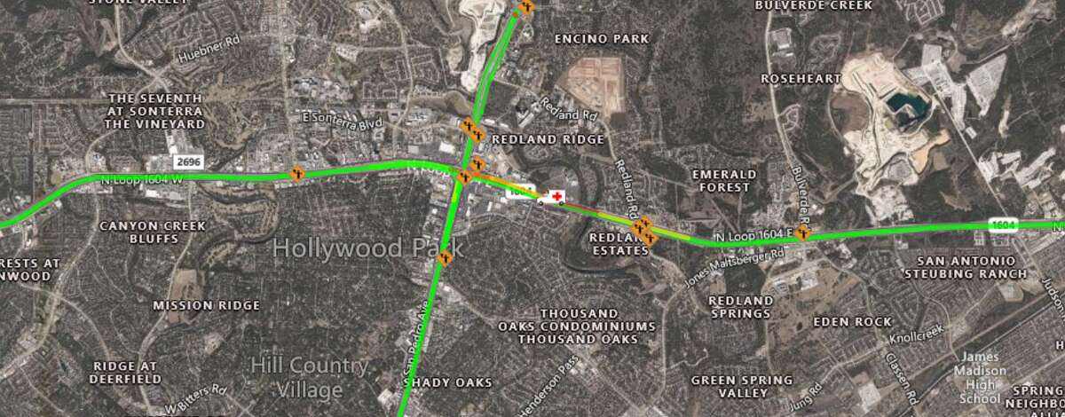 San Antonio police have shut down a portion of Loop 1604 after a major accident Wednesday morning.