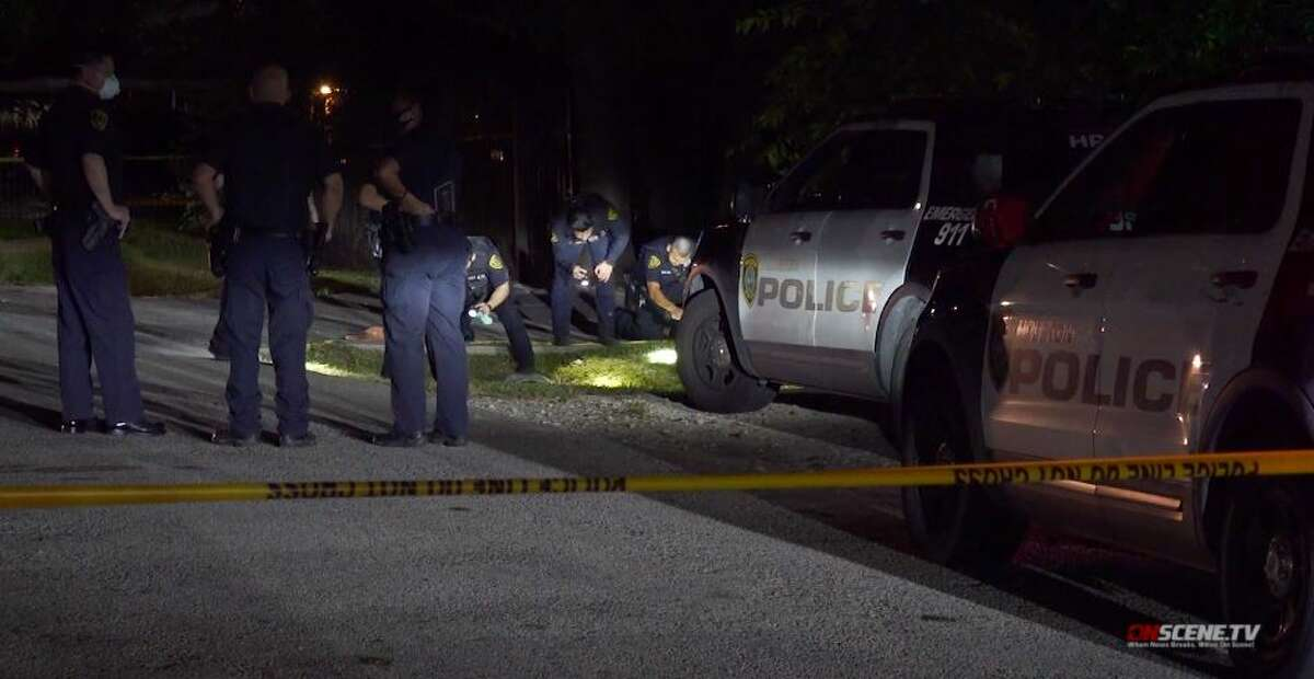 Police investigate a fatal shooting at a home in the North Houston area on Wednesday, Sept. 9, 2020.